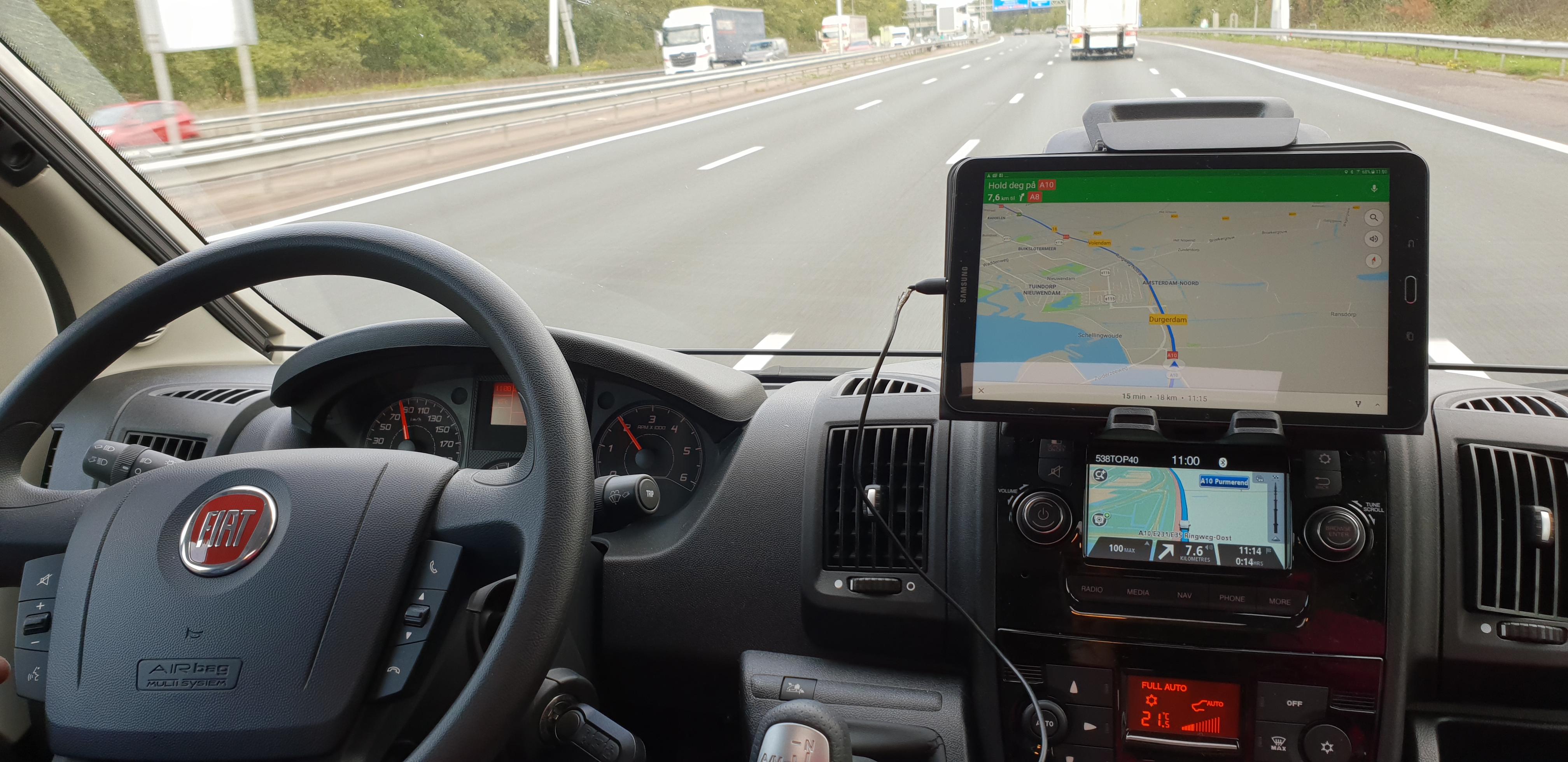 Utstyret i orden i vår bybobil
