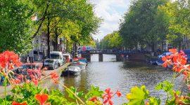 Med bobil i Amsterdam
