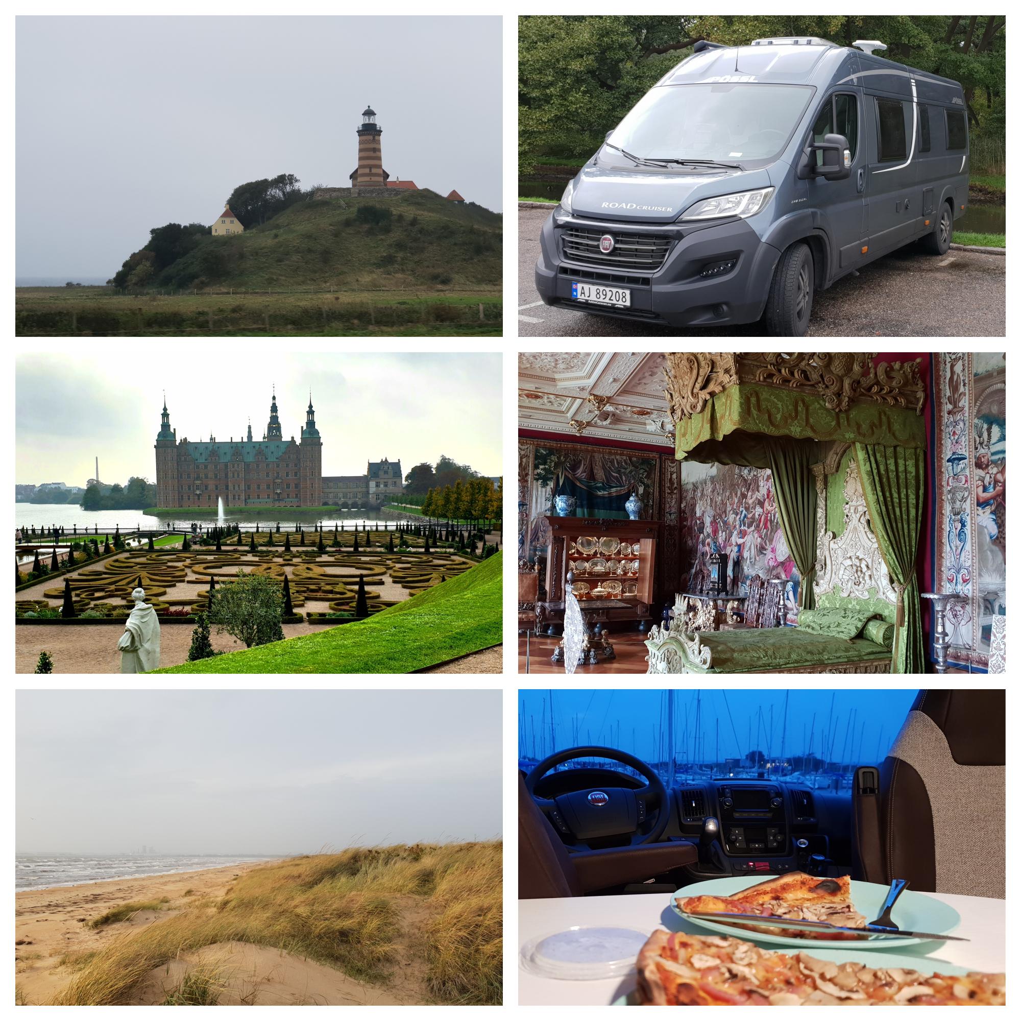Bobilreise med slottsbesøk i Danmark