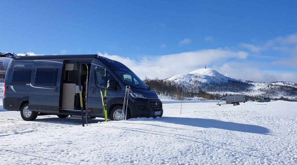 Bobiltur til Vierli på Rauland for skitur på vintercamping