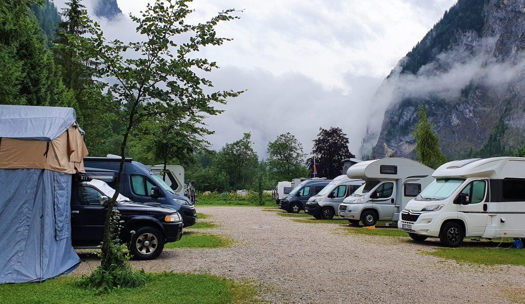 Camping i Hallstatt - det ble fullt