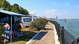 Camping med bobil i Venezia
