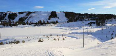 Vintercamping på Gautefall bobilparkering