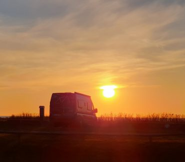 Solnedgang på Hirtshals Camping