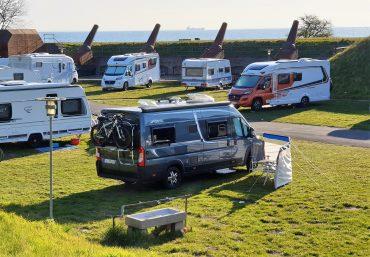 Charlottenlund Fort Camping ved København