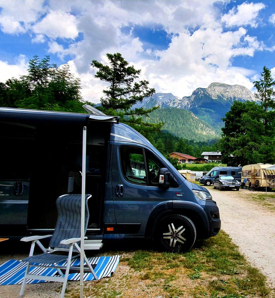 Camping ved Königssee med bobil