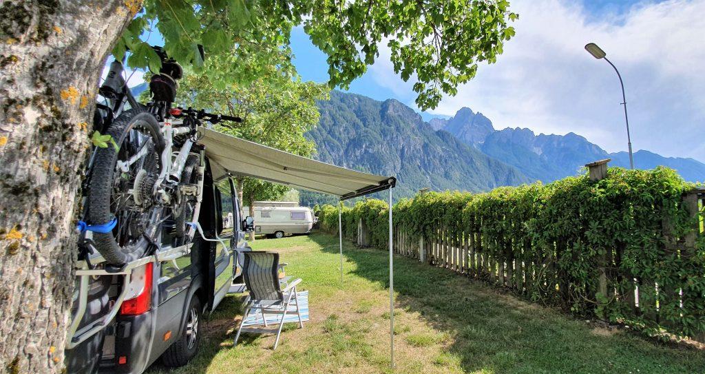 Vi har rigget oss til på Comfort Falken Camping i Lienz