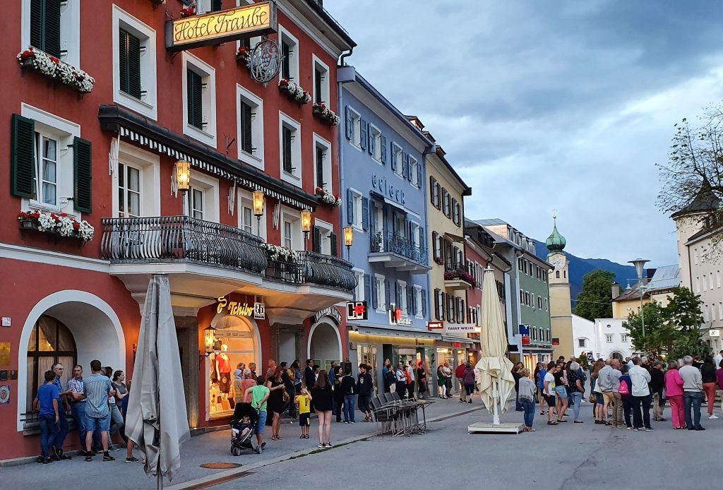 Bobilferie med med besøk i gamlebyen i Lienz